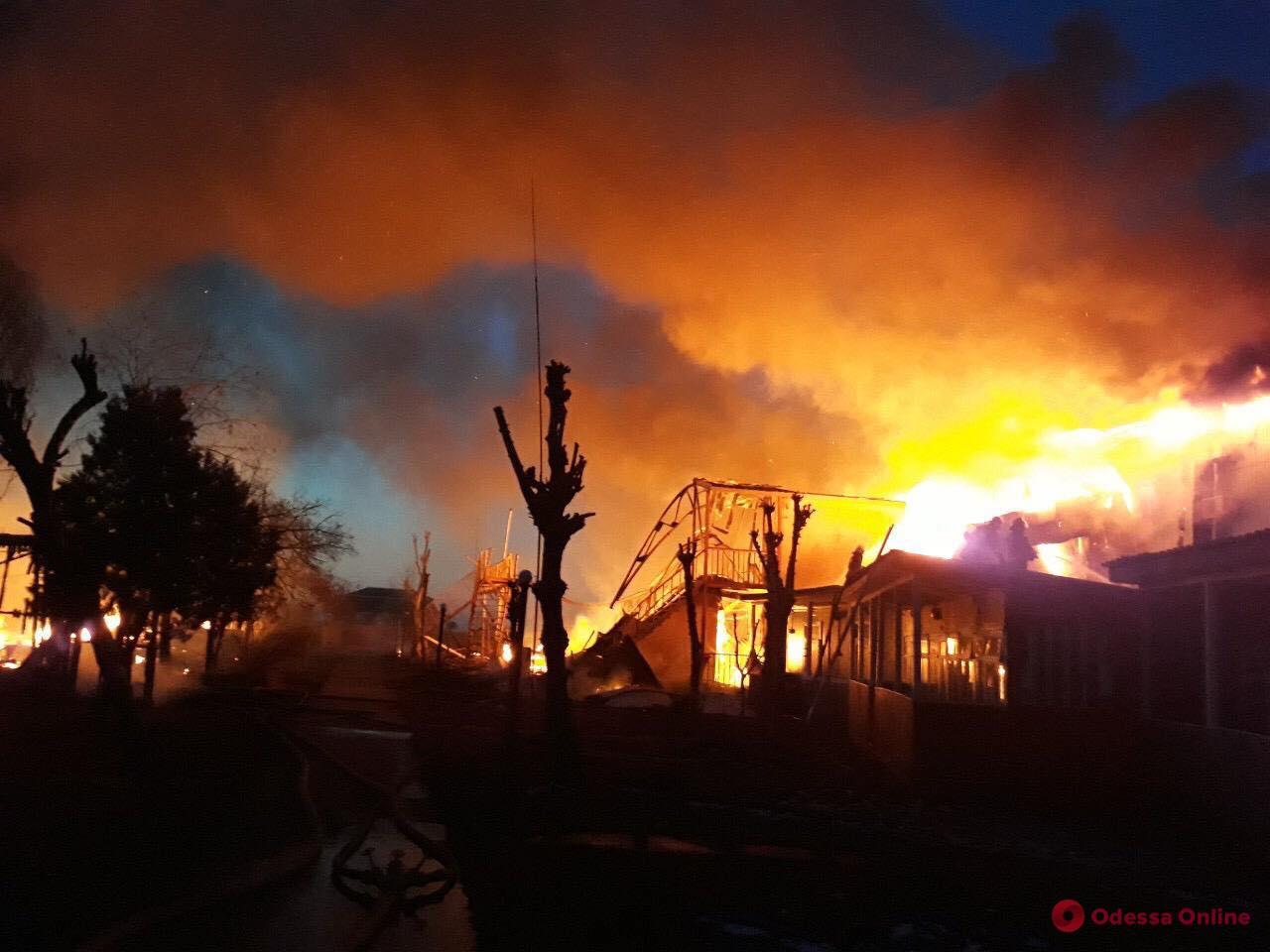 В Одесской области при пожаре пострадал хозяин дома