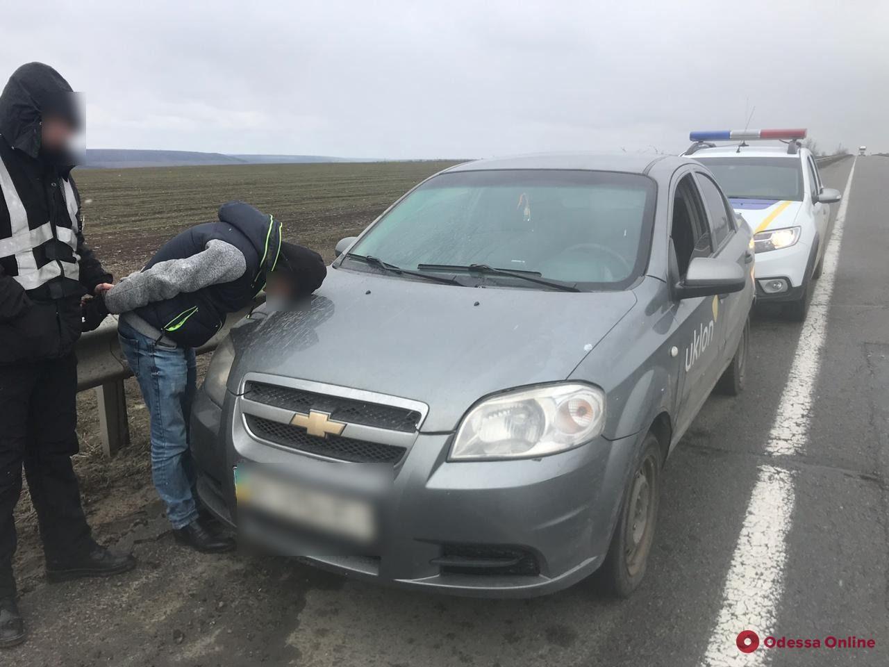 Под Одессой задержали угнанный в столице автомобиль
