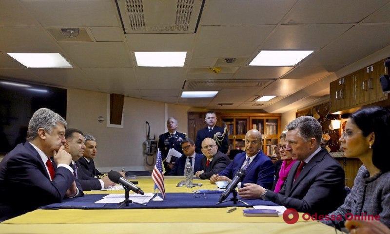 В Одессе Петр Порошенко пообщался с американскими партнерами