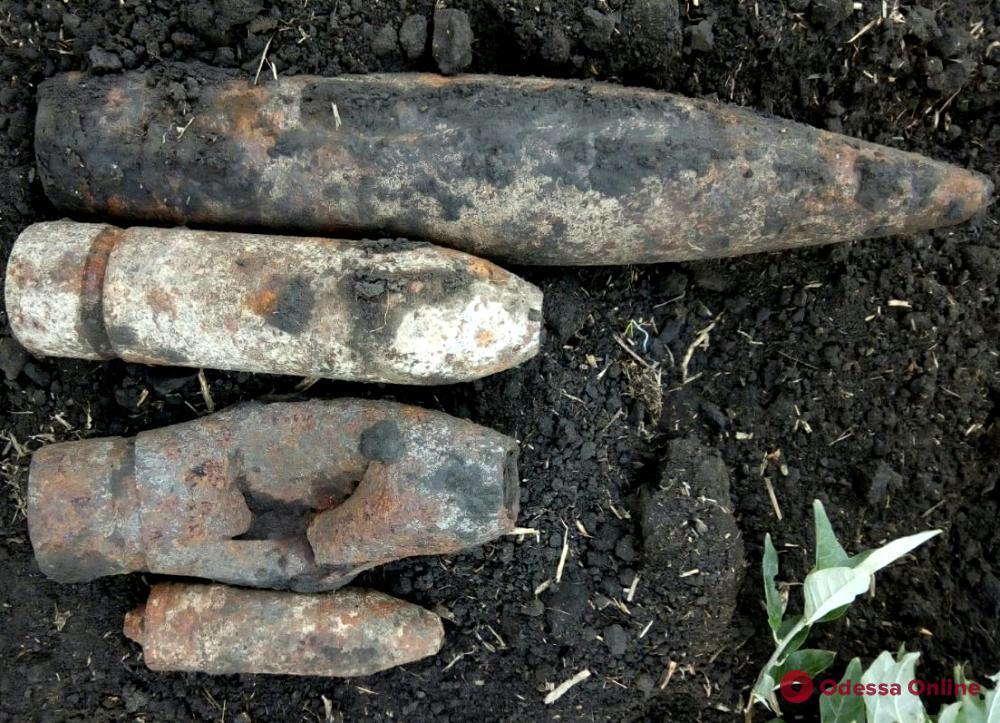 В Одесской области пиротехники нашли полторы сотни боеприпасов времен Второй мировой