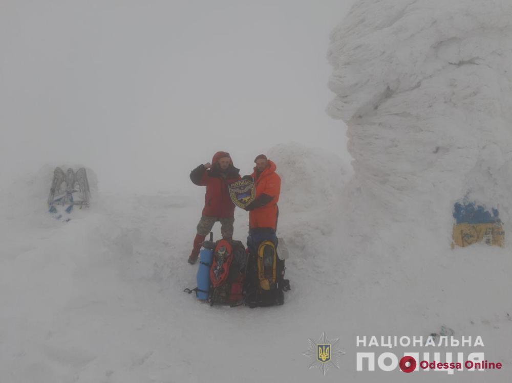 Одесские правоохранители покорили Черногорский хребет