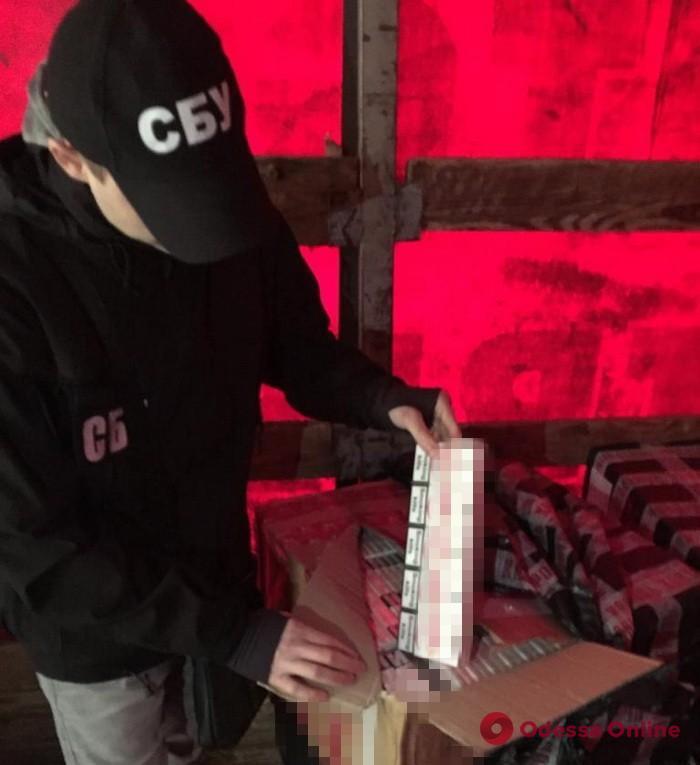 В Одесской области СБУ блокировала контрабанду сигарет на 1,5 миллиона гривен