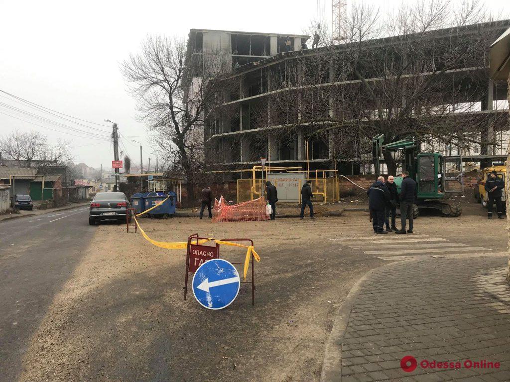 В Киевском районе произошел разрыв газопровода (фото)