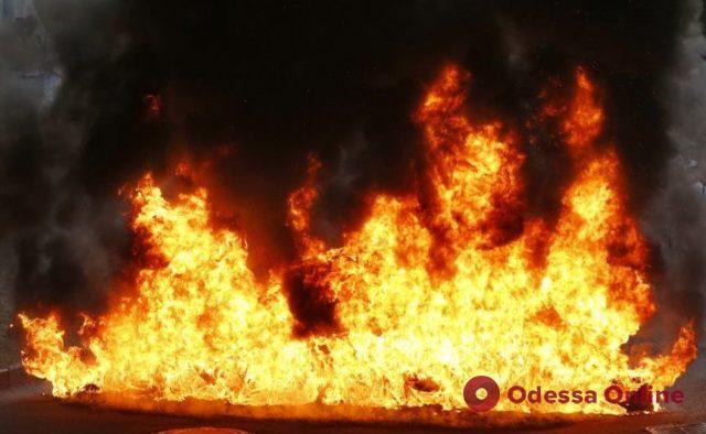 В Одесской области при пожаре едва не погиб хозяин дома
