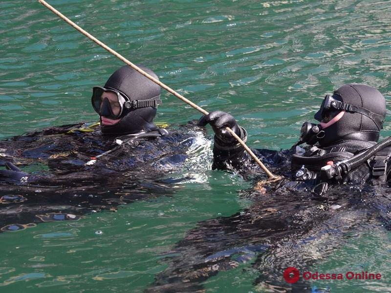 В Одессе провели учения водолазов военно-морских сил Украины