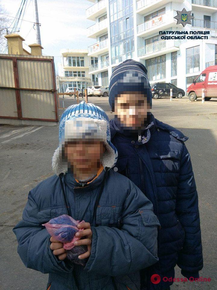Одесские патрульные разыскали двух маленьких беглецов