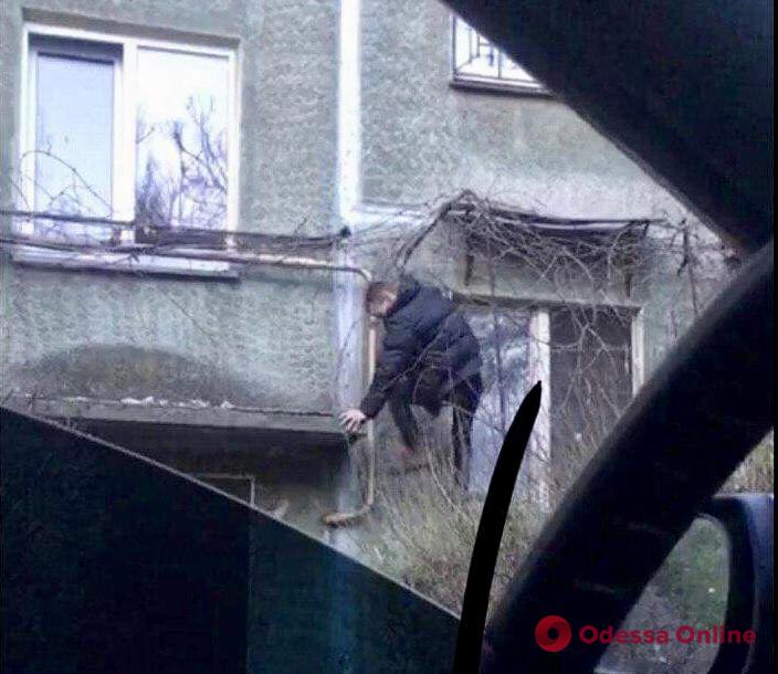 Лез за наркотиками и упал: в Одессе задержали «верхолаза»