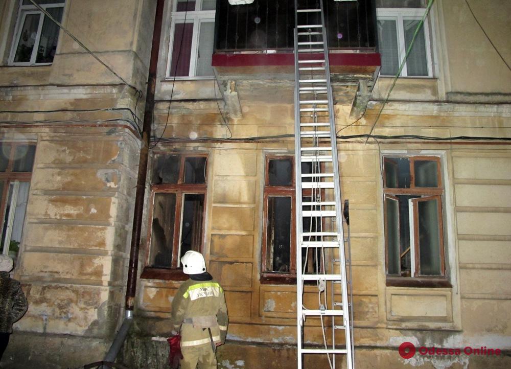 Пожар в центре Одессы: из дома эвакуировали жильцов
