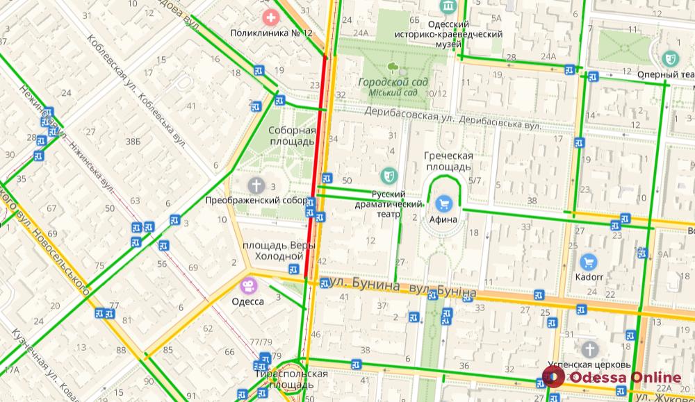 Дорожная обстановка в Одессе: заторы во всех районах города