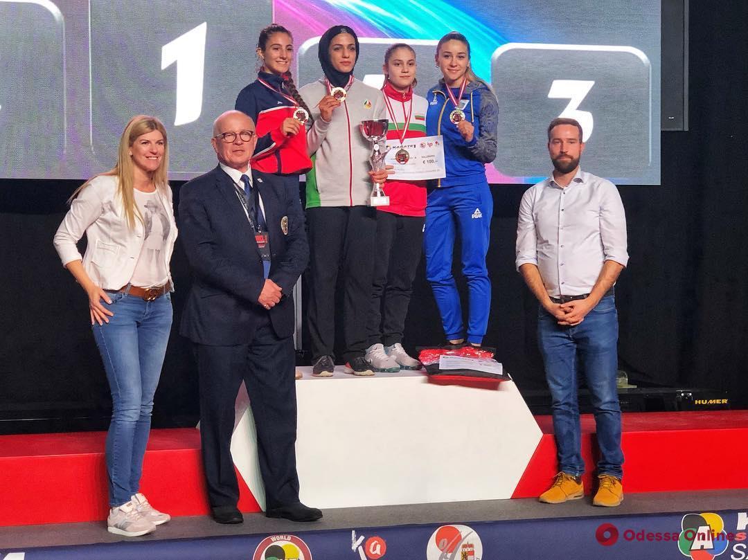 Каратэ: одесситка, несмотря на невероятную конкуренцию, стала призером престижного турнира в Австрии