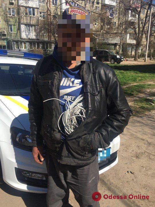 В Одессе поймали очередного кабельного вора