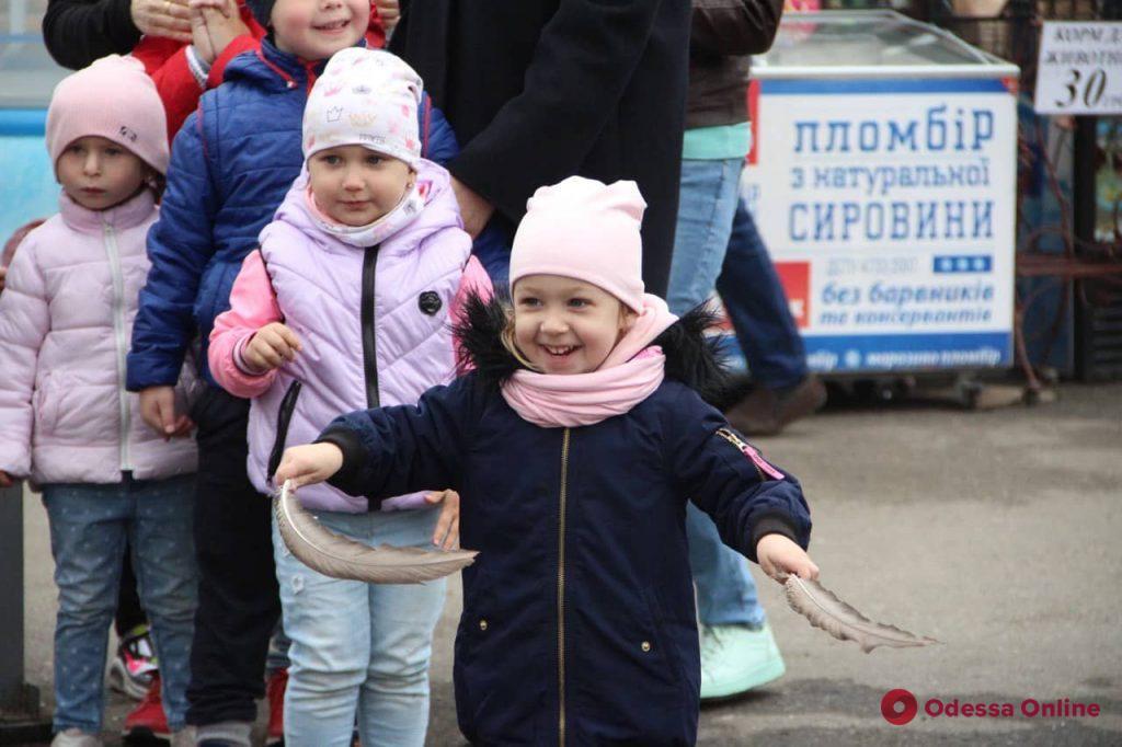 Сегодня маленькие одесситы приняли участие в экологическом празднике