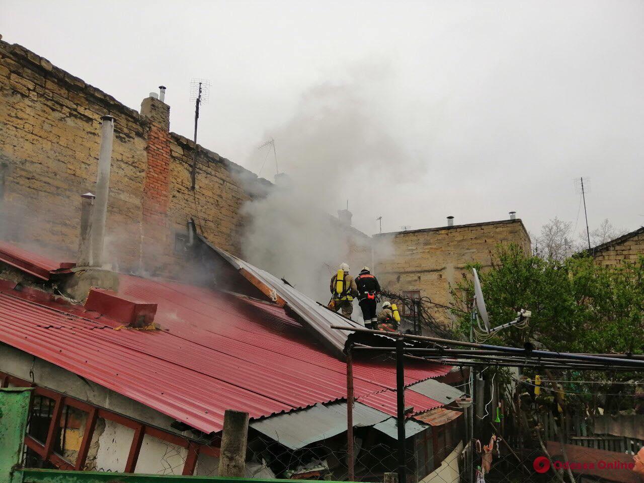 На Молдаванке тушили пожар в частном доме