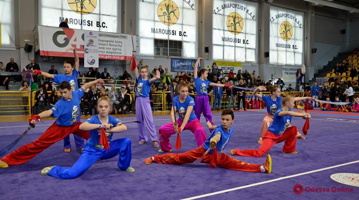 Ушу: одесситы блестяще выступили в международном турнире в Греции