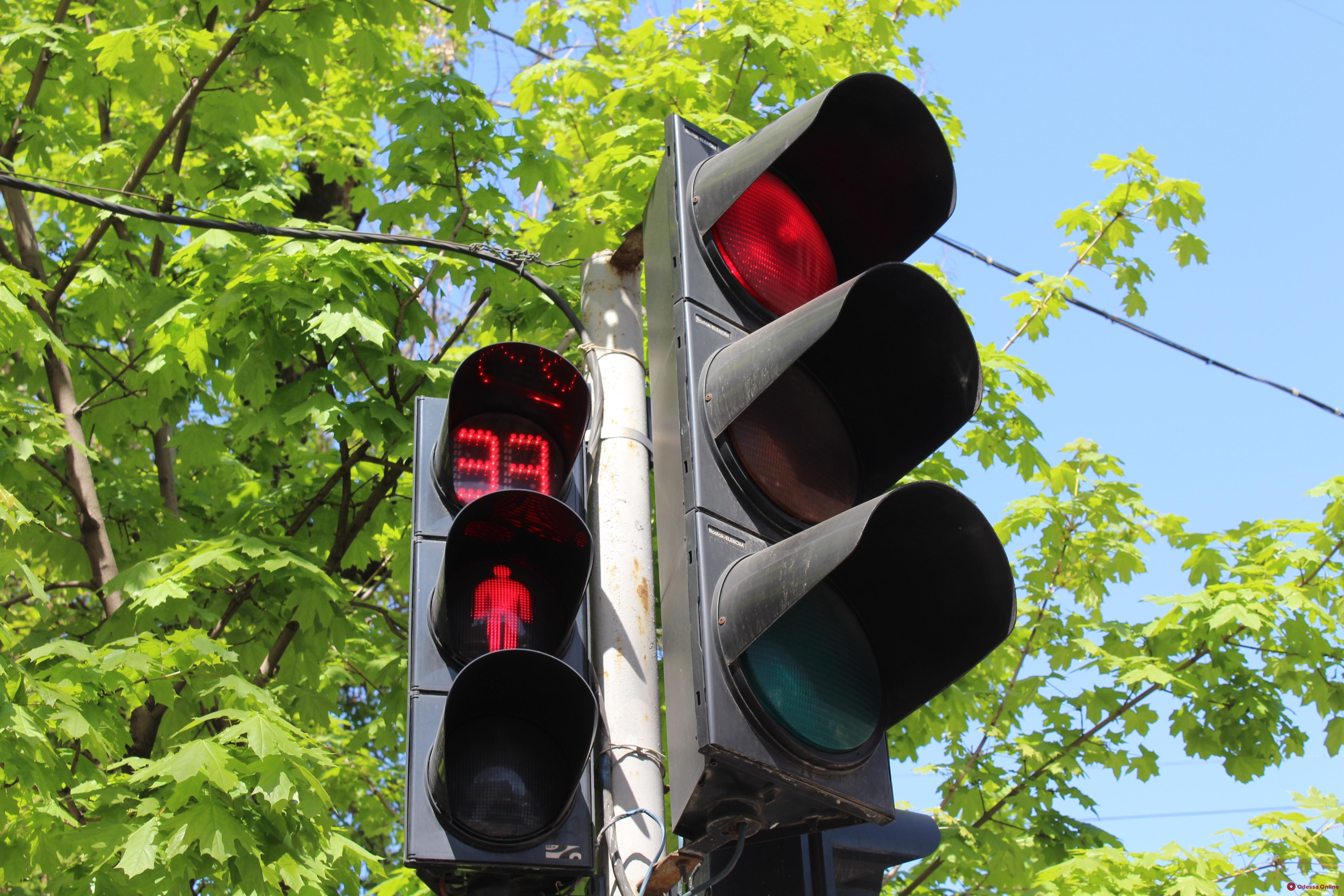 В Одессе на пяти перекрестках не работают светофоры