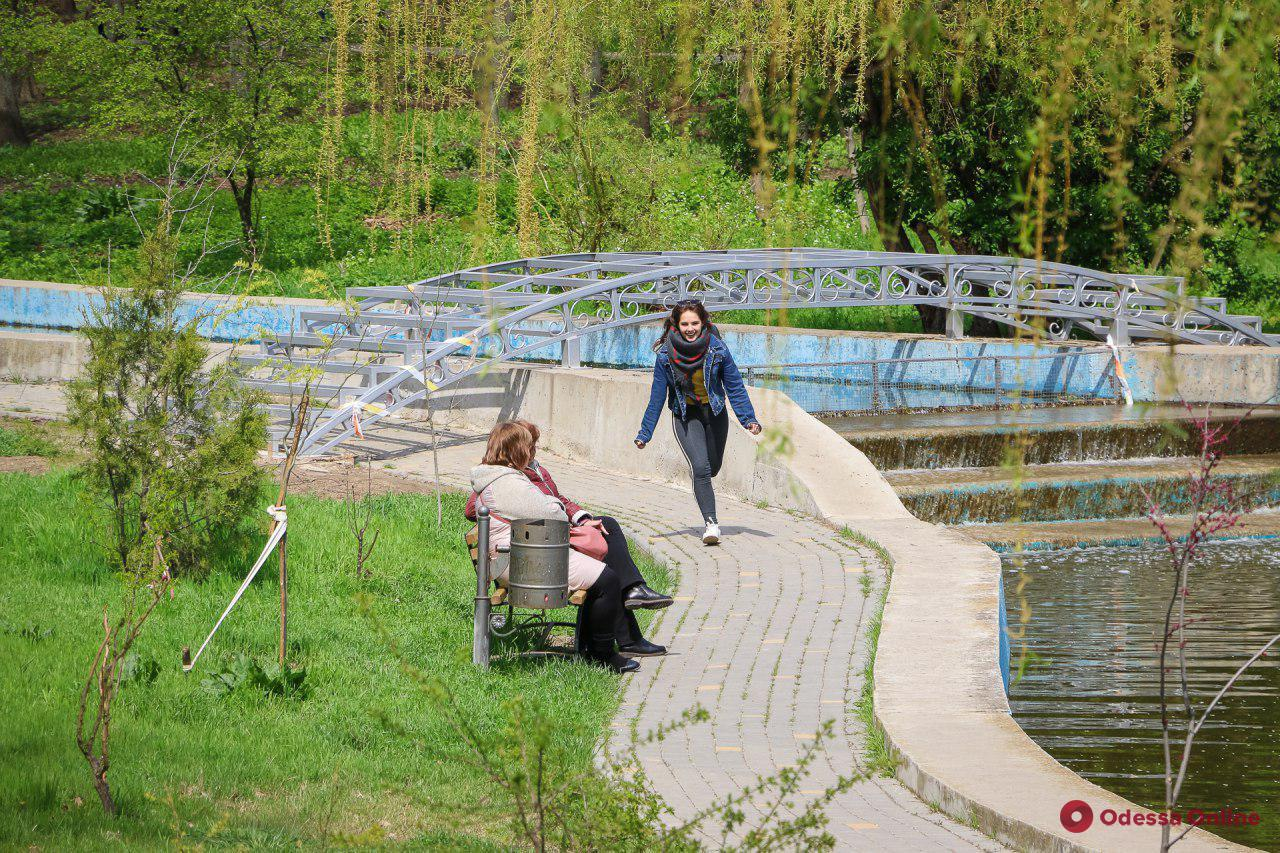 В одесском парке устанавливают декоративный мостик