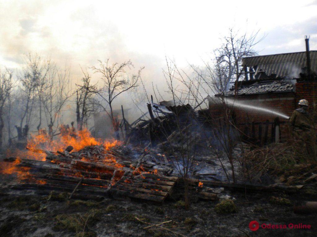 Одесская область: спасатели тушили пожар в частном доме