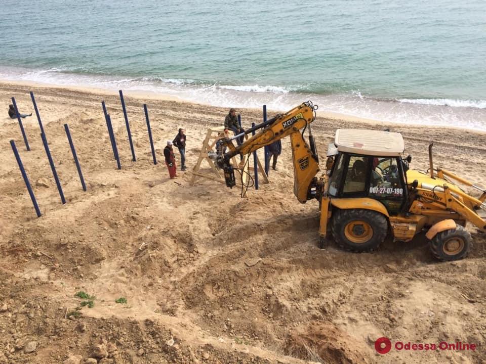 На одесском побережье остановили строительство нахалстроев