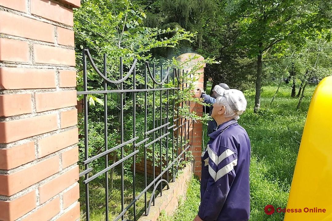Коммунальщики приводят в порядок зоны возле одесских бюветов