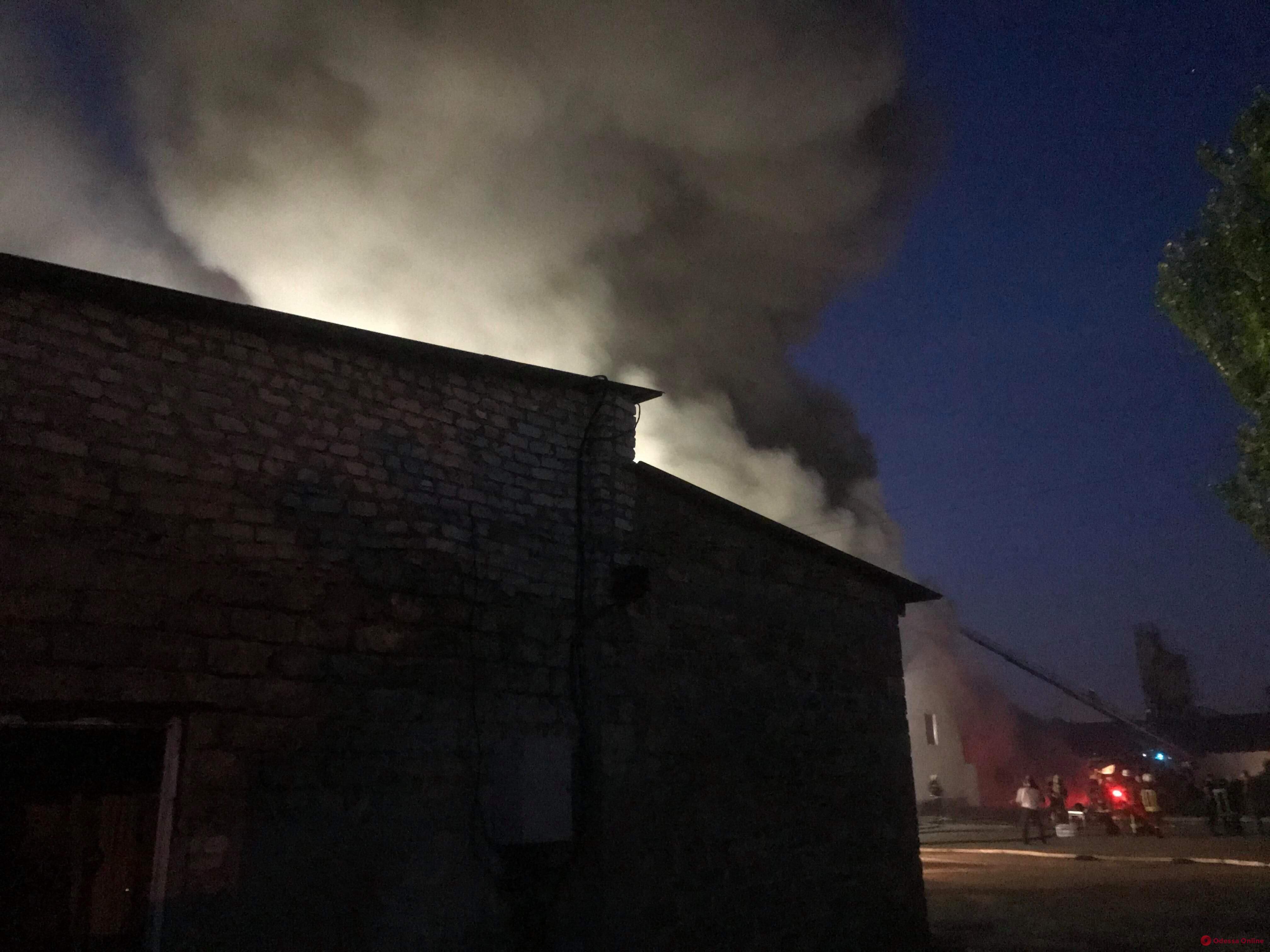 Одесса: на Онежской горят склады (фото)