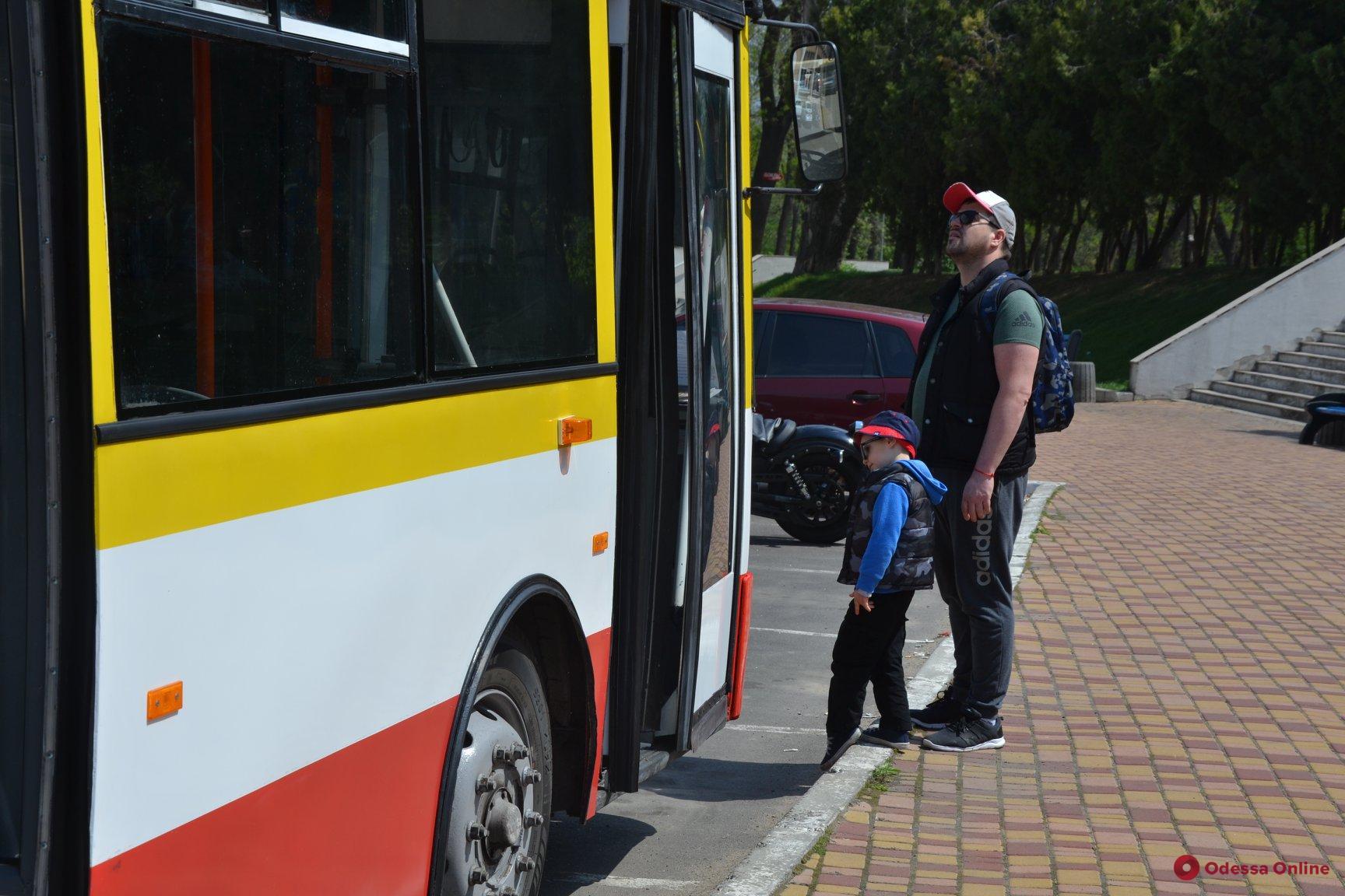 В Одессе представили первый электробус