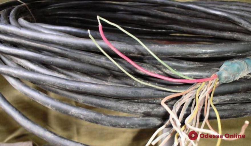 В Одессе поймали изобретательных кабельных воров