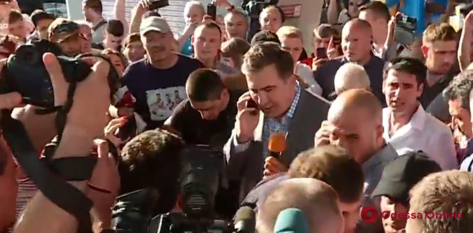 Михеил Саакашвили прилетел в Украину (видео)