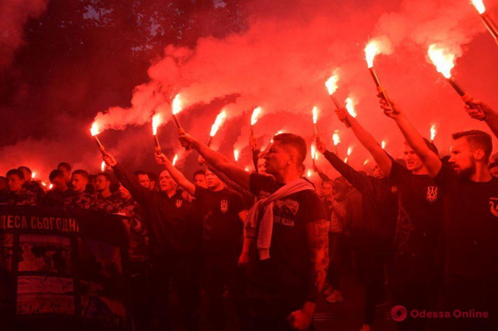 Марш украинского порядка прошел по центру Одессы (фоторепортаж)