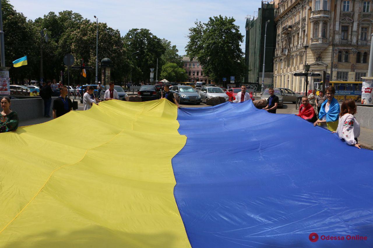 В Одессе прошел мегамарш в вышиванках