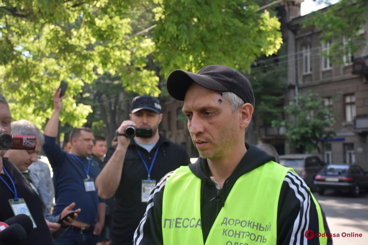 В Одессе пикетировали офис «Укртрансбезопасности»