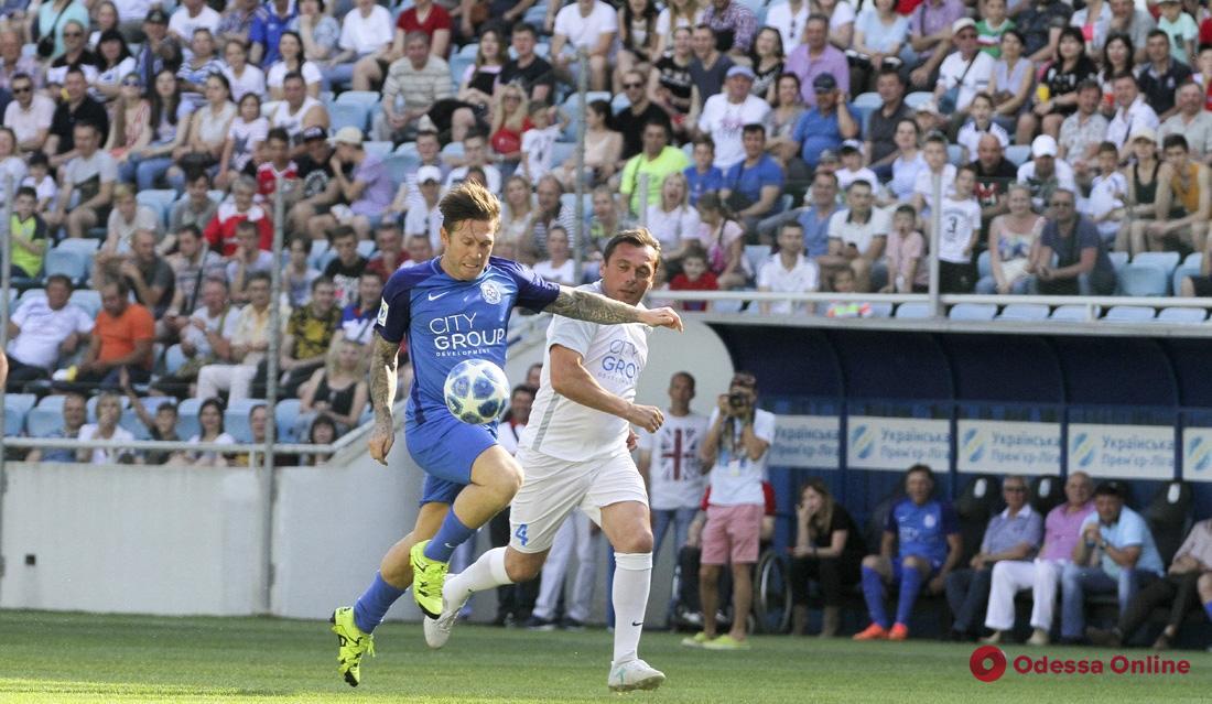 Андрей Воронин забил за «Черноморец»: в Одессе почтили память звезд одесского футбола
