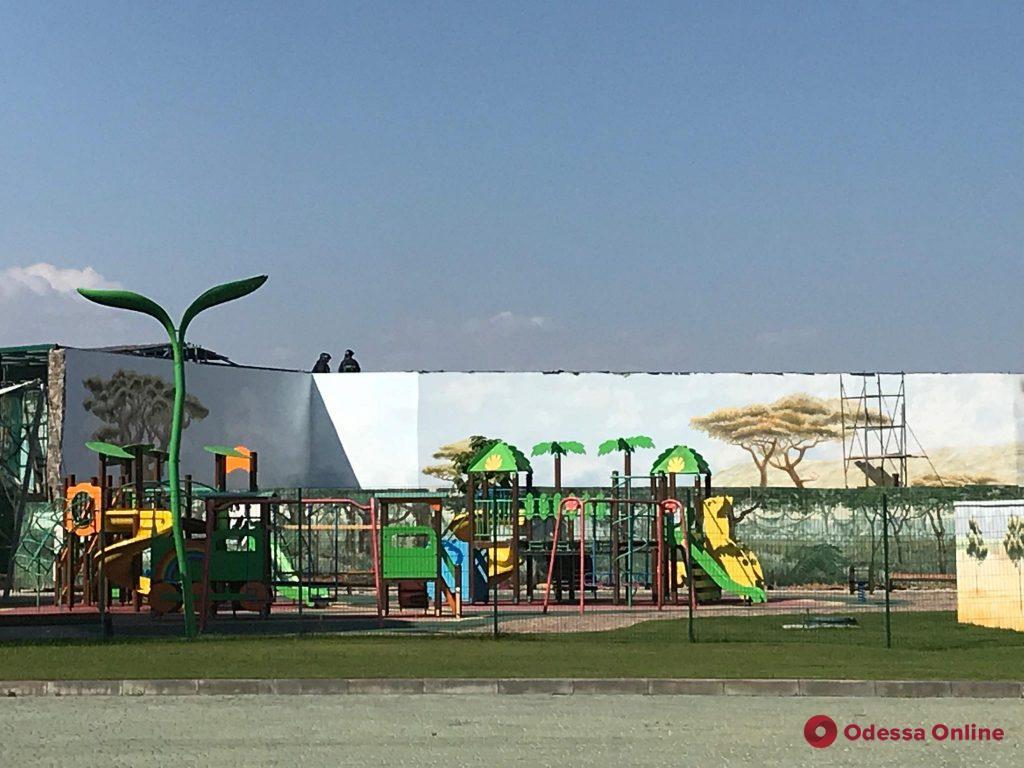 На территории одесского биопарка произошел пожар (видео)