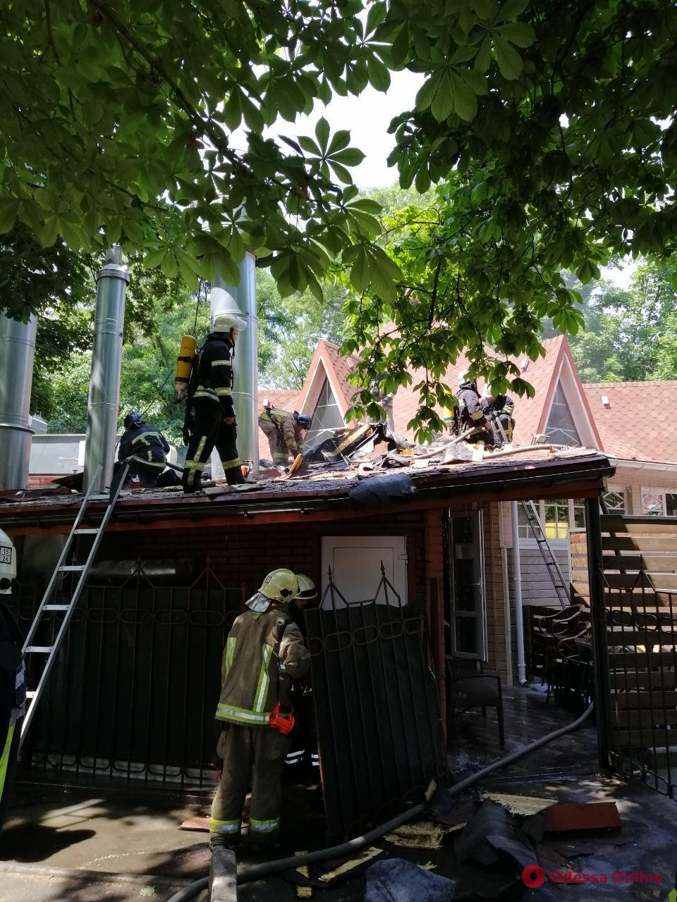 В ресторане на Таирова произошел пожар