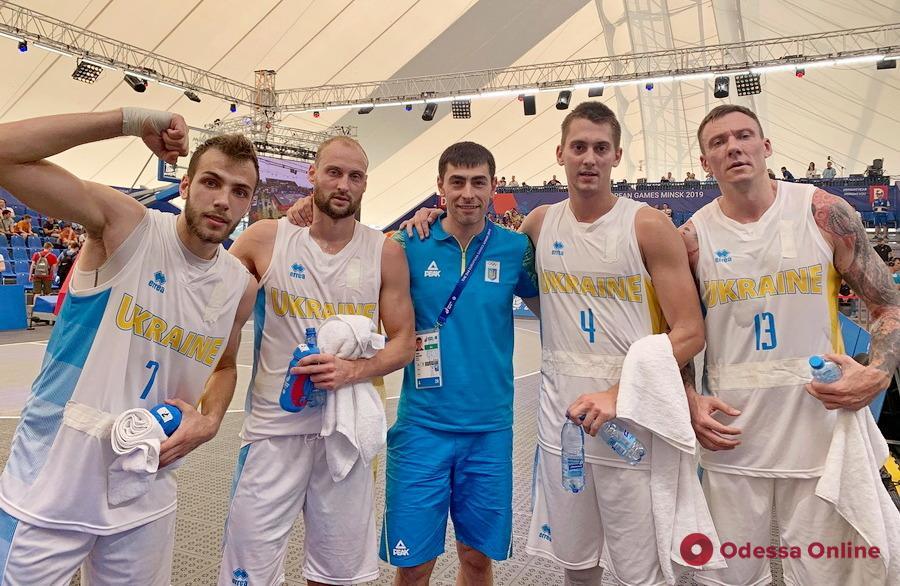 Европейские игры: одессит в составе сборной Украины удачно начал турнир по баскетболу 3х3