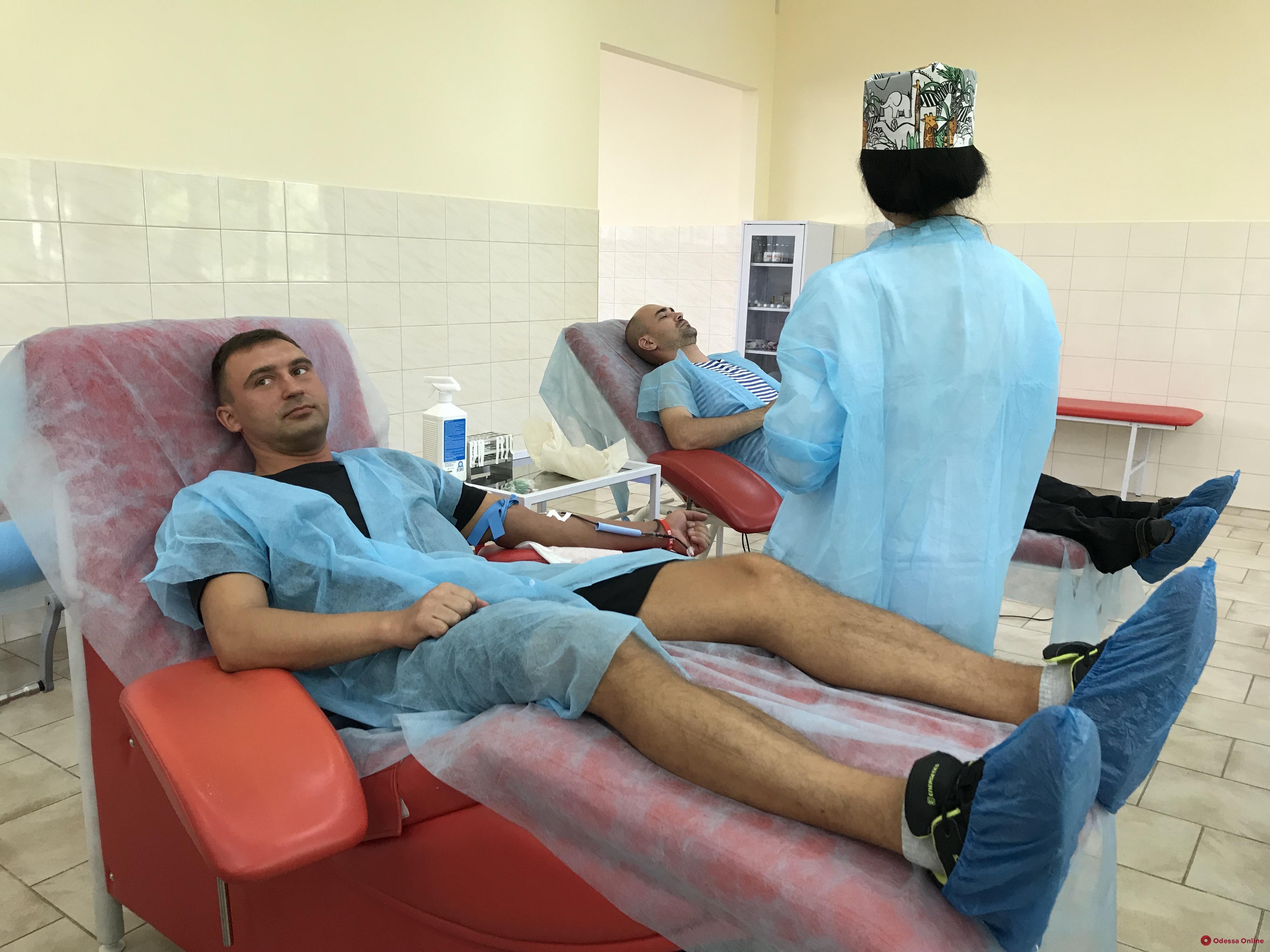 В День донора в одесском центре переливания крови небывалый ажиотаж