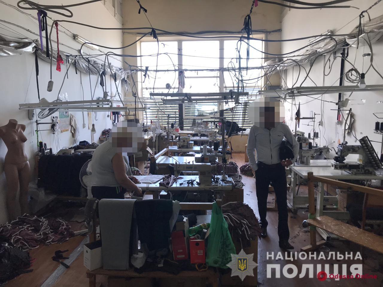 В Одессе обнаружили цех по пошиву «липовой» брендовой одежды