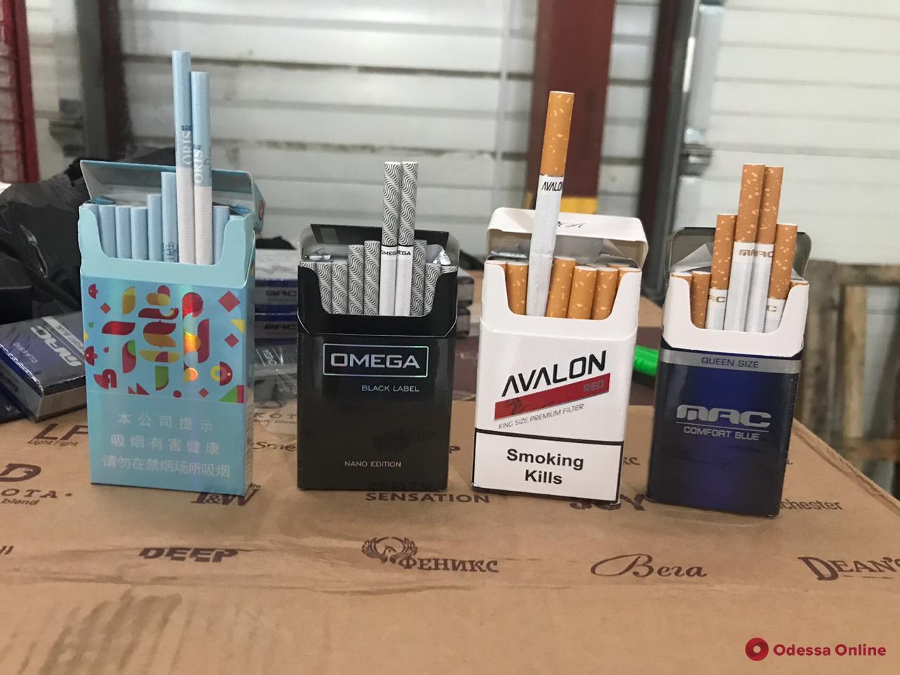 На почте в Одессе нашли крупную партию сигарет на полтора миллиона