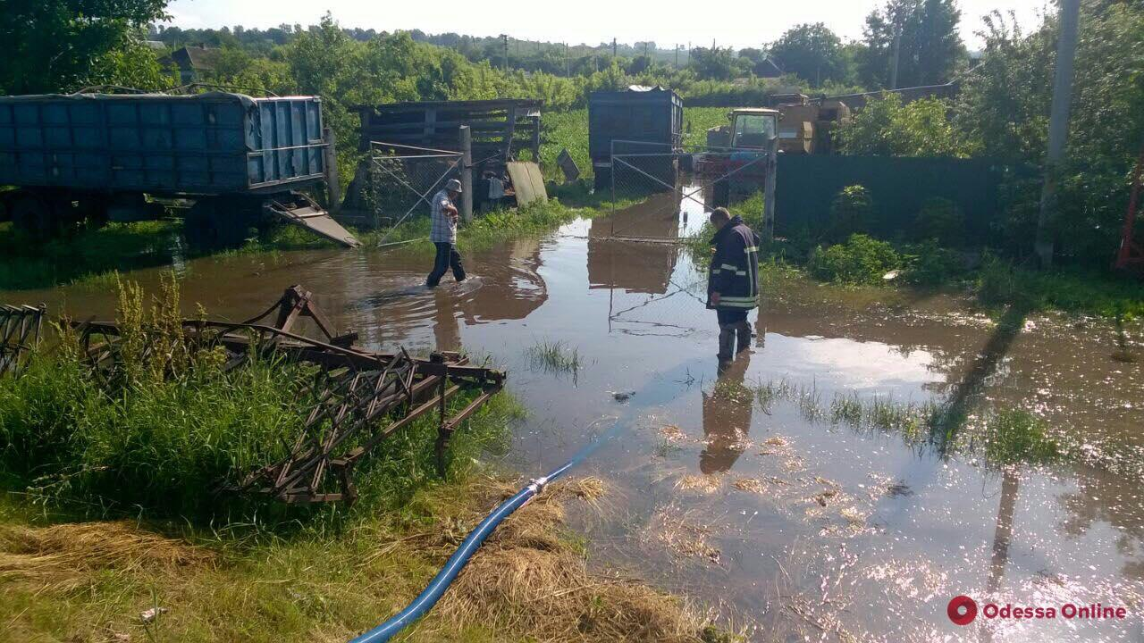 В Одесской области спасатели откачивают воду после сильного дождя