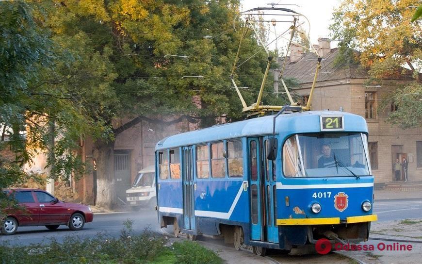 В Одессе временно не ходят трамваи двух маршрутов