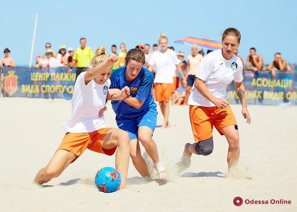 В Одессе состоялся женский чемпионат Украины по пляжному футболу