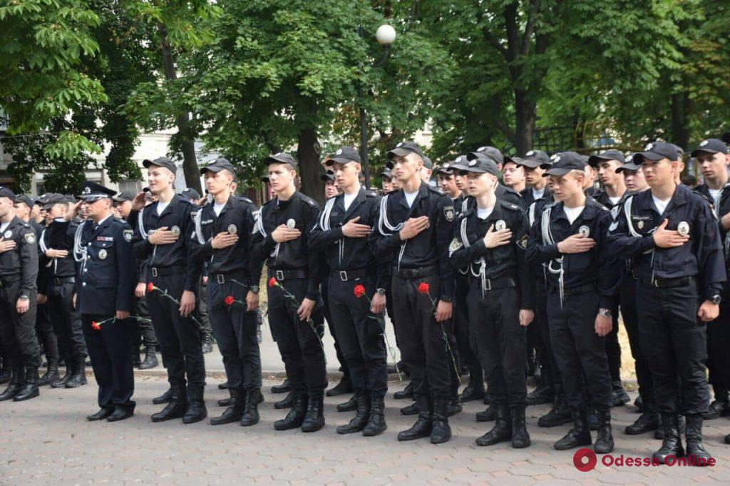 В Одессе прошел марш по случаю четвертой годовщины основания Нацполиции (фото, видео)
