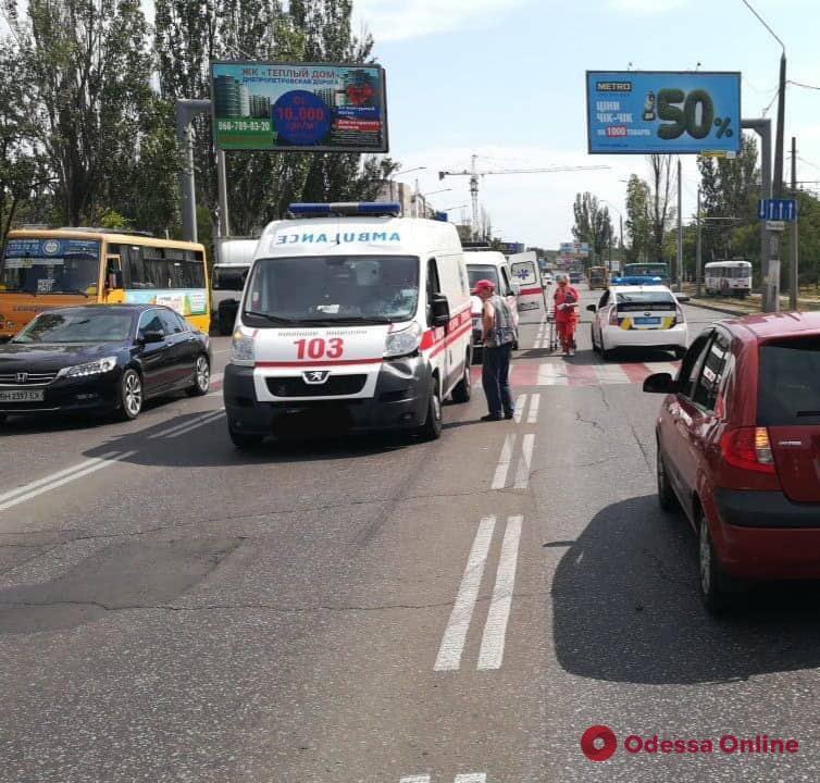 В Одессе «скорая» сбила пешехода