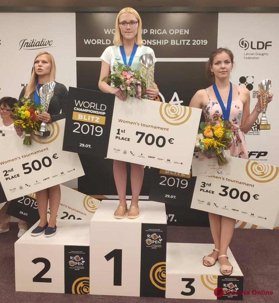 Шашки: титулованная одесситка завоевала медаль чемпионата мира