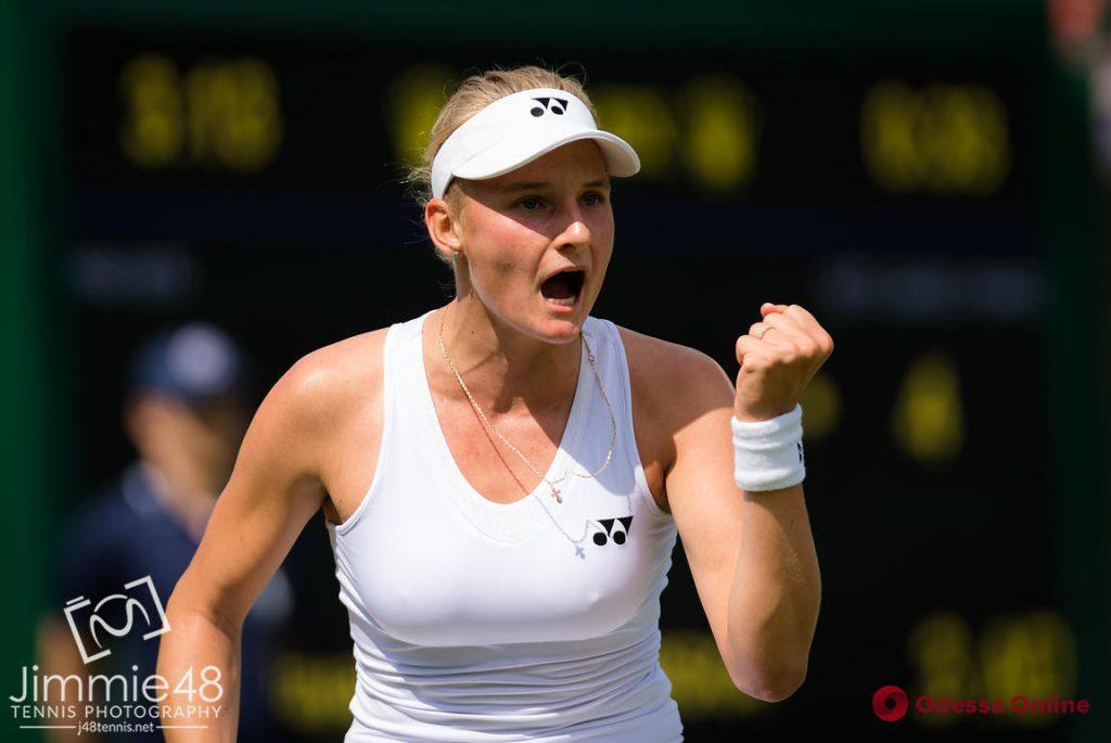 Теннис: юная одесситка впервые в карьере сыграет в 1/8 финала Уимблдона