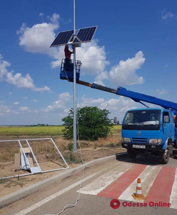 На трассе Одесса—Рени пешеходные переходы подсветят от солнечных батарей