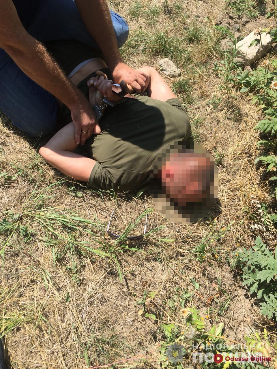 Под Одессой «взяли» с поличным наркоторговца