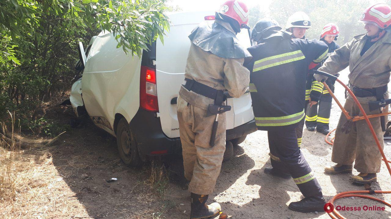 На трассе под Одессой столкнулись Mitsubishi и Renault — погиб один из водителей (обновлено)