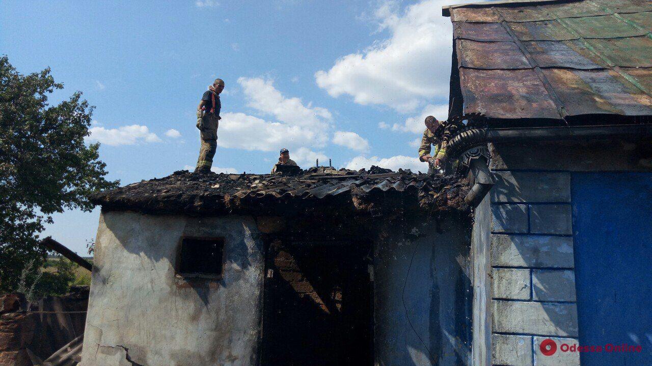 Под Одессой при пожаре погибла женщина