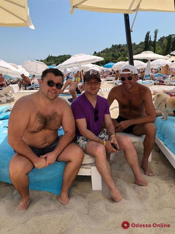 Владимир Зеленский отдохнул на одесском пляже