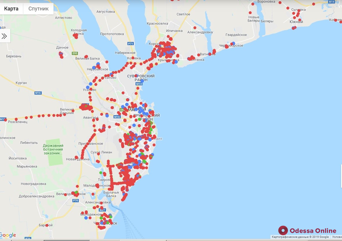 В Одессе появилась интерактивная карта амброзии